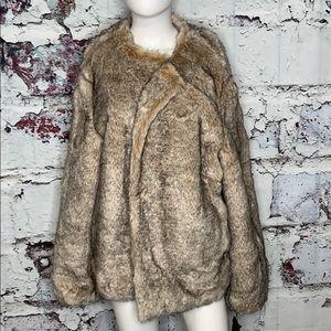 Badgley Mischka faux fur jacket 1X new